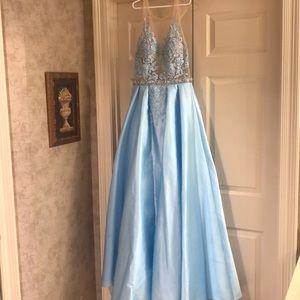 Long Formal Jovani  Light Blue Dress